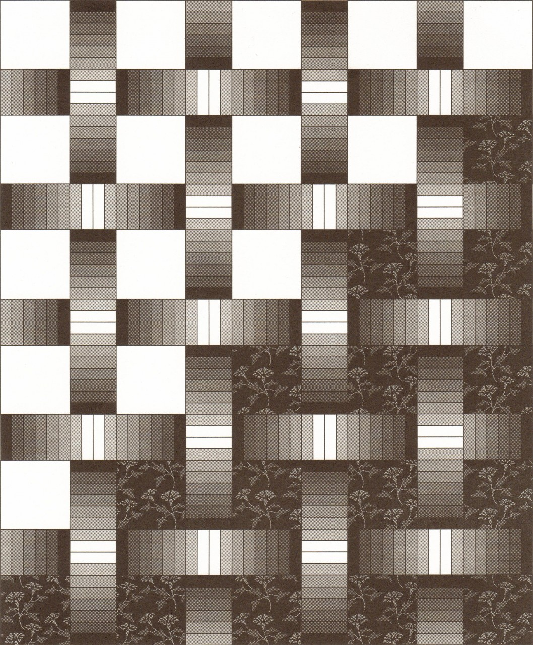 Woven Ribbons Graph Paper Download