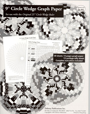 9 Degree Circle Wedge Graph Paper for 50