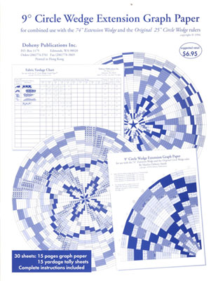 9 Degree Circle Wedge Graph Paper for 74