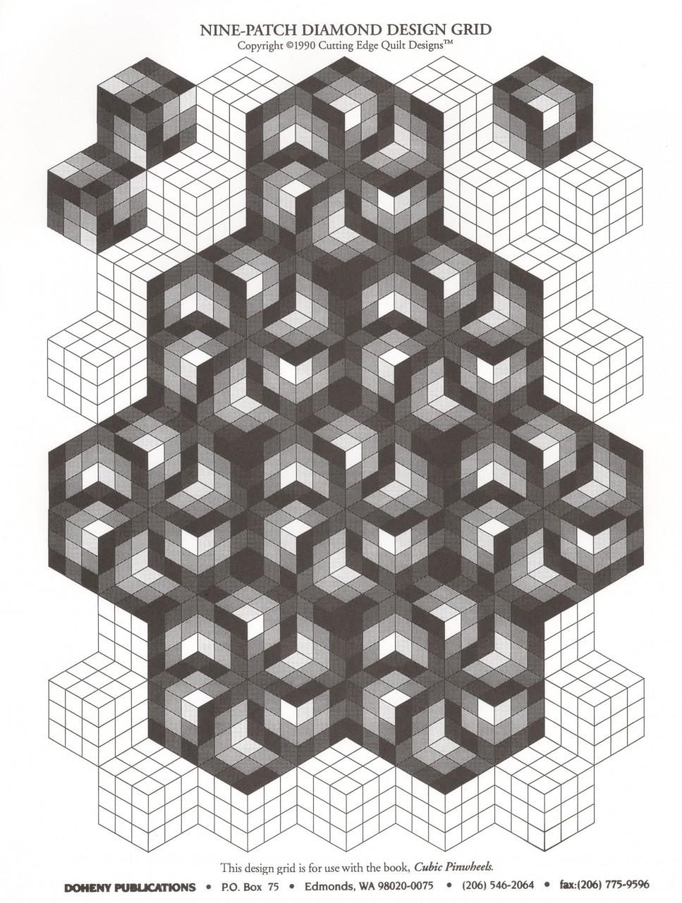 cubic pinwheels graph paper download