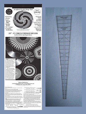 "25"" - 9 Degree Circle Wedge Ruler with instruction board and 20 patterns"