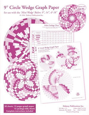 "9 Degree Circle Wedge Graph Paper, 18"" 28"" and 36"" Circles"